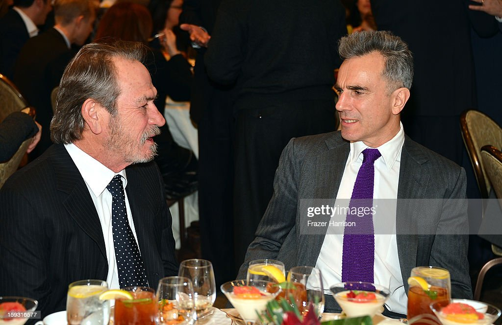 Actors Tommy Lee Jones and Daniel Day-Lewis attend the 13th Annual AFI Awards at Four Seasons Los Angeles at Beverly Hills on January 11, 2013 in Beverly Hills, California.
