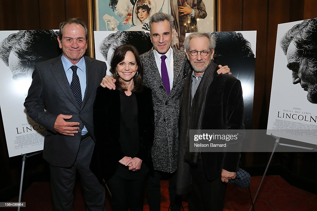 Actors Tommy Lee Jones, Sally Field, Daniel Day-Lewis and director Steven Spielberg attend the special screening of Steven Spielberg's Lincoln at the Ziegfeld Theatre on November 14, 2012 in New York City.