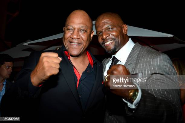 Actors Tommy 'Tiny' Lister and Terry Crews attend the after party for the Lionsgate Films' 'The Expendables 2' premiere on August 15 2012 in...