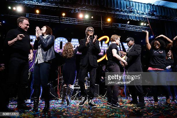 Actors Tommy Tune Anthony Rapp Ben Vereen and actors attend BroadwayCon 2016 at the Hilton Midtown on January 22 2016 in New York City