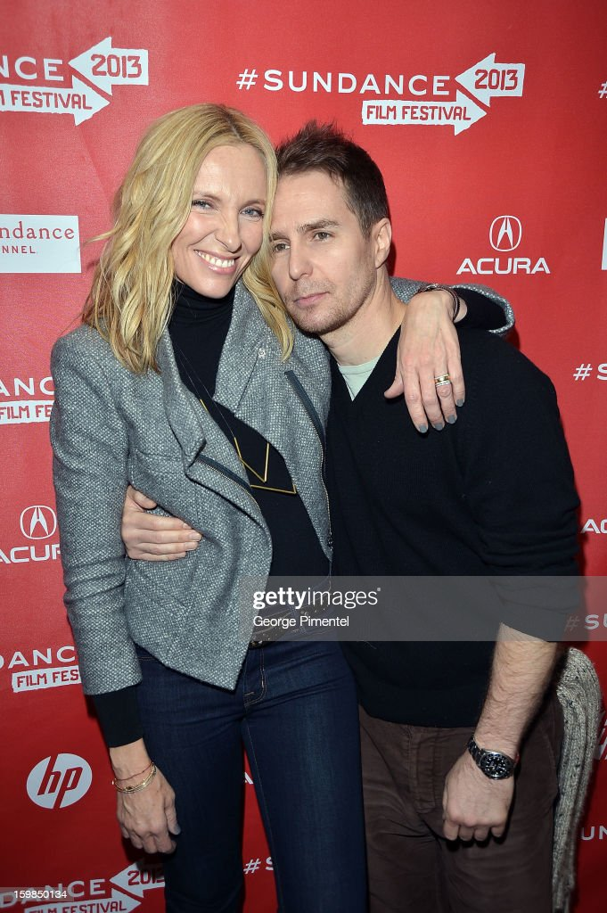 Actors <a gi-track='captionPersonalityLinkClicked' href=/galleries/search?phrase=Toni+Collette&family=editorial&specificpeople=204673 ng-click='$event.stopPropagation()'>Toni Collette</a> and <a gi-track='captionPersonalityLinkClicked' href=/galleries/search?phrase=Sam+Rockwell&family=editorial&specificpeople=213214 ng-click='$event.stopPropagation()'>Sam Rockwell</a> attend 'The Way, Way Back' premiere at Eccles Center Theatre during the 2013 Sundance Film Festival on January 21, 2013 in Park City, Utah.