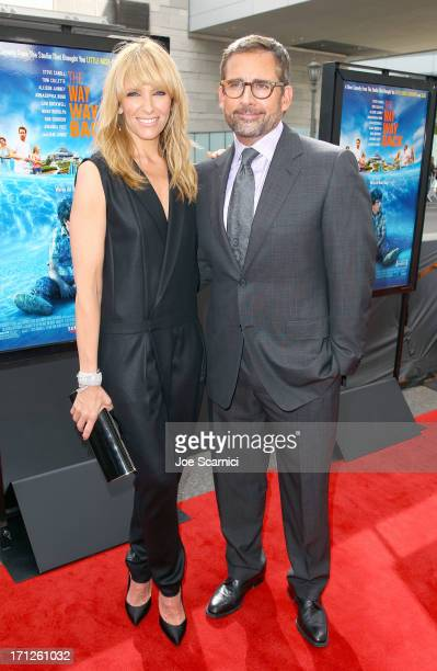 Actors Toni Collette and Steve Carell attend 'The Way Way Back' premiere sponsored by DIRECTV during the 2013 Los Angeles Film Festival at Regal...