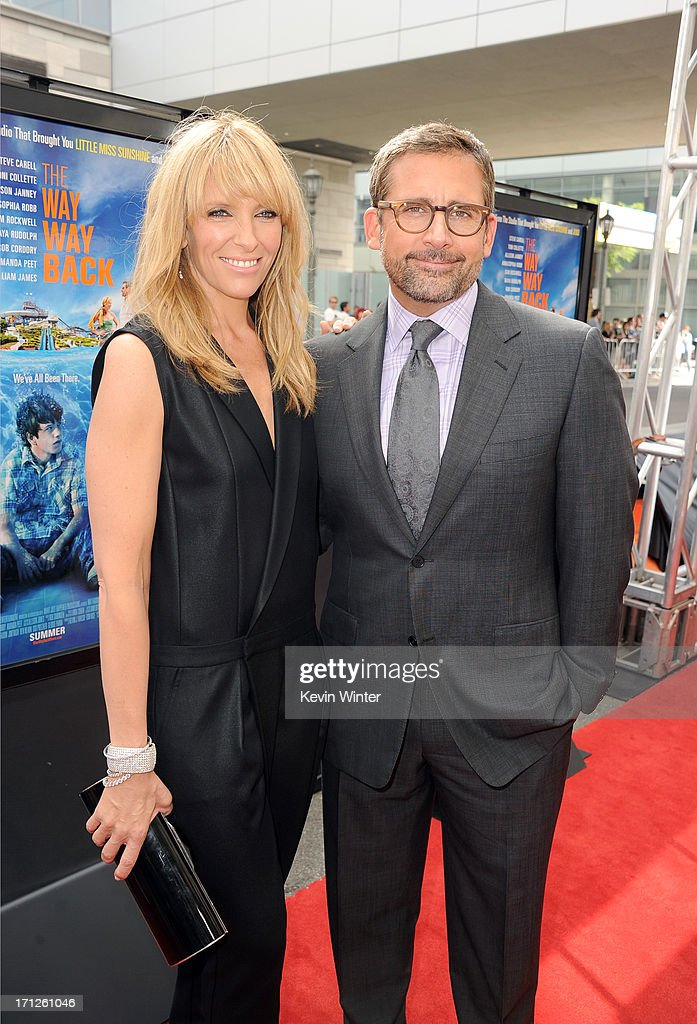 Actors <a gi-track='captionPersonalityLinkClicked' href=/galleries/search?phrase=Toni+Collette&family=editorial&specificpeople=204673 ng-click='$event.stopPropagation()'>Toni Collette</a> (L) and <a gi-track='captionPersonalityLinkClicked' href=/galleries/search?phrase=Steve+Carell&family=editorial&specificpeople=595491 ng-click='$event.stopPropagation()'>Steve Carell</a> attend 'The Way, Way Back' premiere during the 2013 Los Angeles Film Festival at Regal Cinemas L.A. Live on June 23, 2013 in Los Angeles, California.