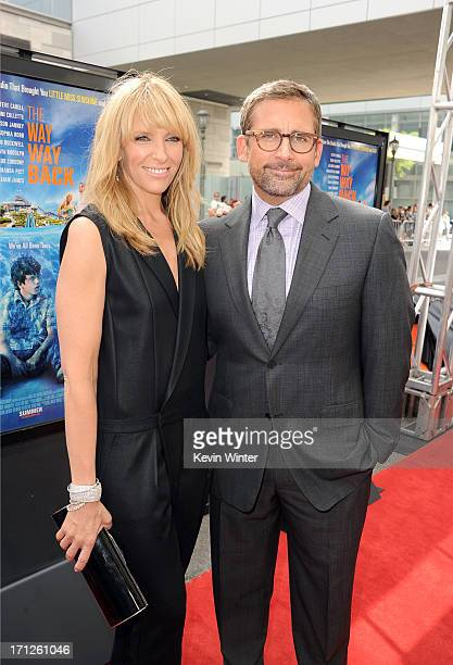 Actors Toni Collette and Steve Carell attend 'The Way Way Back' premiere during the 2013 Los Angeles Film Festival at Regal Cinemas LA Live on June...
