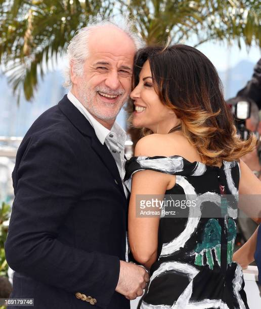 Actors Toni Servillo and Sabrina Ferilli attends the 'La Grande Bellezza' Photocall during The 66th Annual Cannes Film Festival at the Palais des...