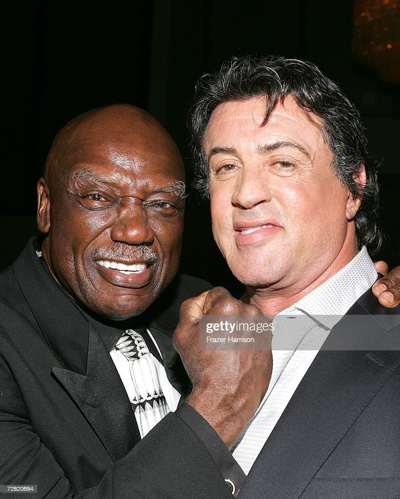 Actors Tony Burton and Sylvester Stallone pose at the premiere of MGM's 'Rocky Balboa' after party held at the Hollywood and Highland Ballroom on...
