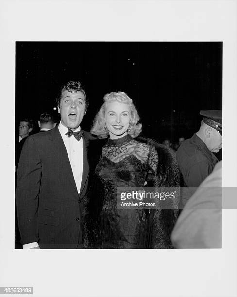 Actors Tony Curtis and Janet Leigh at the premiere of the movie 'A Star is Born' 1954
