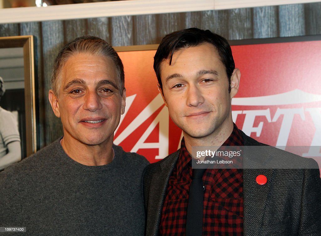 Actors <a gi-track='captionPersonalityLinkClicked' href=/galleries/search?phrase=Tony+Danza&family=editorial&specificpeople=203133 ng-click='$event.stopPropagation()'>Tony Danza</a> and <a gi-track='captionPersonalityLinkClicked' href=/galleries/search?phrase=Joseph+Gordon-Levitt&family=editorial&specificpeople=213632 ng-click='$event.stopPropagation()'>Joseph Gordon-Levitt</a> attend Day 1 of the Variety Studio at 2013 Sundance Film Festival on January 19, 2013 in Park City, Utah.