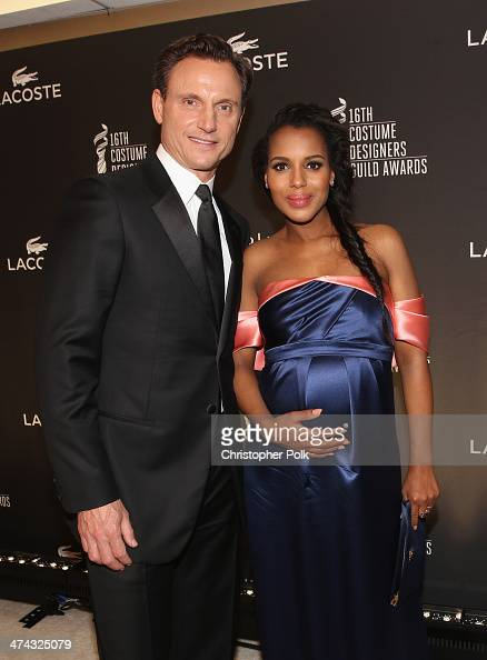 Actors Tony Goldwyn and Kerry Washington attend the 16th Costume Designers Guild Awards with presenting sponsor Lacoste at The Beverly Hilton Hotel...