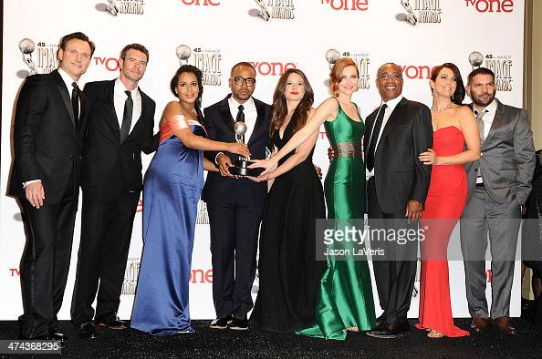 Actors Tony Goldwyn Scott Foley Kerry Washington Columbus Short Katie Lowes Darby Stanchfield Joe Morton Bellamy Young and Guillermo Diaz winners of...
