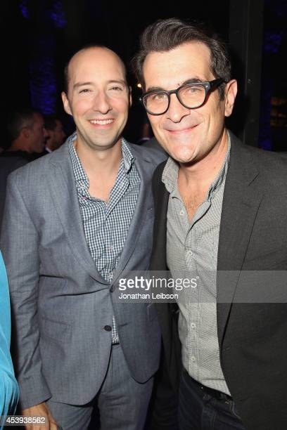 Actors Tony Hale and Ty Burrell attend Audi's Celebration of Emmys Week 2014 at Cecconi's Restaurant on August 21 2014 in Los Angeles California