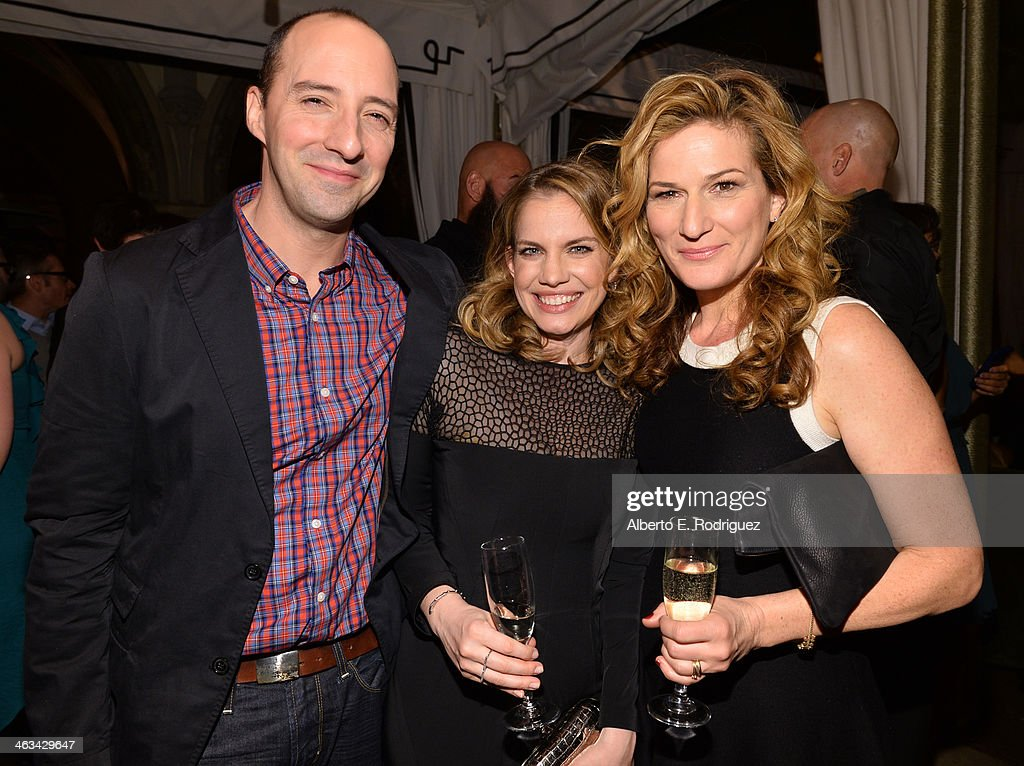 Actors <a gi-track='captionPersonalityLinkClicked' href=/galleries/search?phrase=Tony+Hale&family=editorial&specificpeople=745565 ng-click='$event.stopPropagation()'>Tony Hale</a>, <a gi-track='captionPersonalityLinkClicked' href=/galleries/search?phrase=Anna+Chlumsky&family=editorial&specificpeople=1133442 ng-click='$event.stopPropagation()'>Anna Chlumsky</a> and <a gi-track='captionPersonalityLinkClicked' href=/galleries/search?phrase=Ana+Gasteyer&family=editorial&specificpeople=213902 ng-click='$event.stopPropagation()'>Ana Gasteyer</a> attend the Entertainment Weekly celebration honoring this year's SAG Awards nominees sponsored by TNT & TBS and essie at Chateau Marmont on January 17, 2014 in Los Angeles, California.