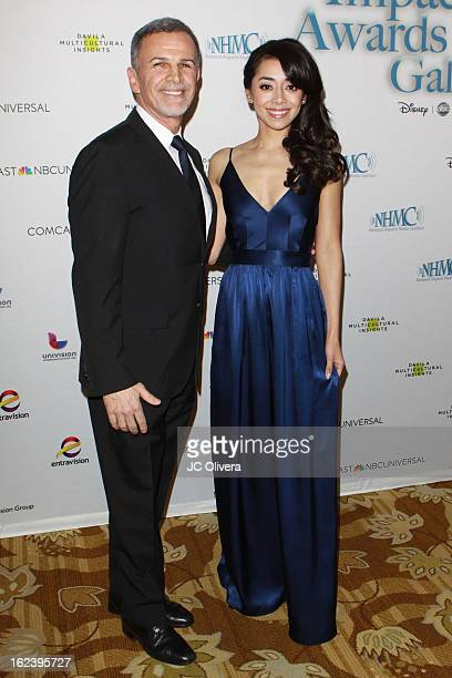 Actors Tony Plana and Aimee Garcia attend National Hispanic Media Coalition's 16th Annual Impact Awards Gala at the Beverly Wilshire Four Seasons...