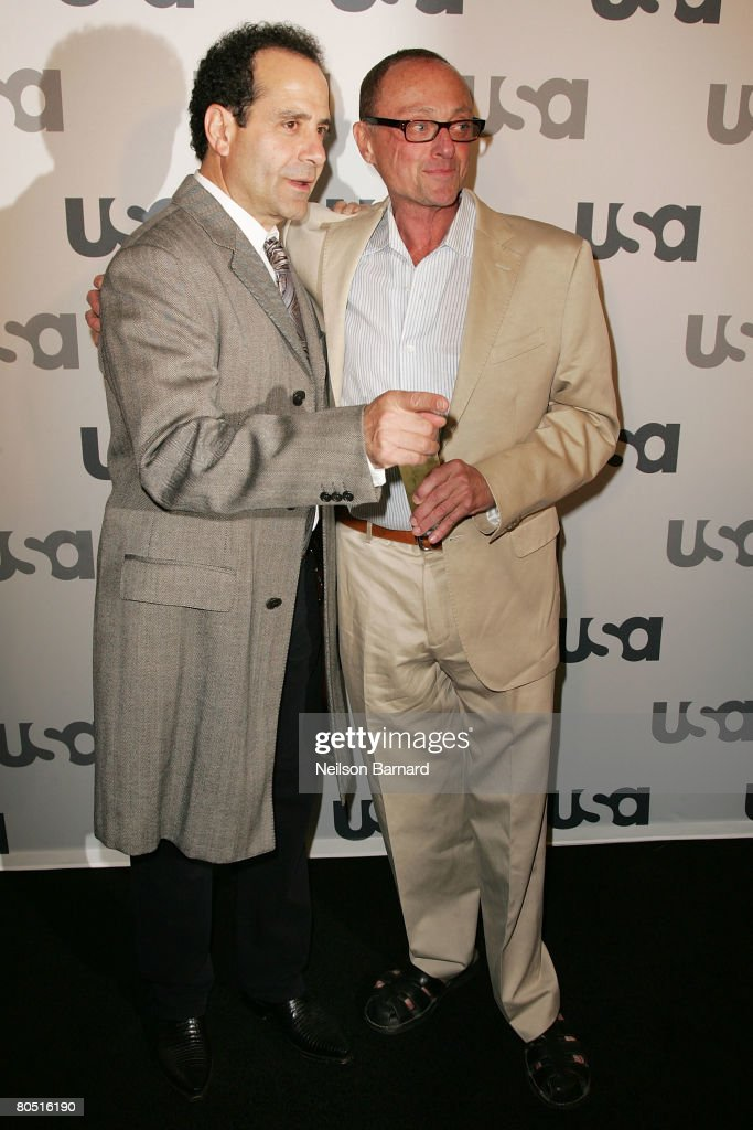 Actors Tony Shalhoub and Stanley Kamel arrive at Characters Welcome for the USA Television Network as it celebrates it's Lineup of Stars at Craft on...