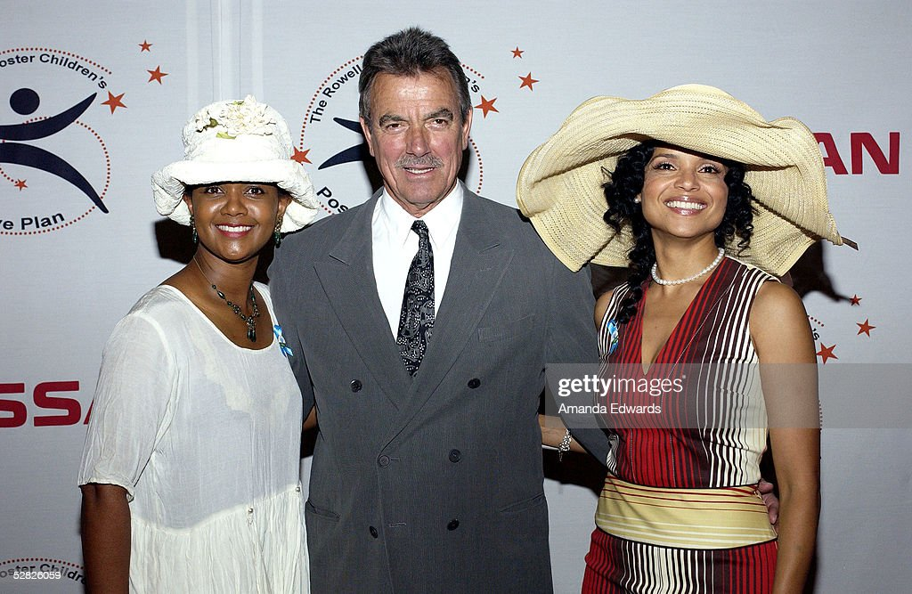 Actors Tonya Lee Williams, Eric Braeden and Victoria Rowell arrive at the Rowell Foster Children's Positive Plan 3rd Annual High Tea at the Century Plaza Hotel and Spa on May 14, 2005 in Century City, California.