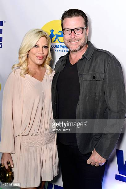 Actors Tori Spelling and Dean McDermott attend an event hosted by WE tv and Ian Ziering to raise awareness for Canine Companions for Independence at...