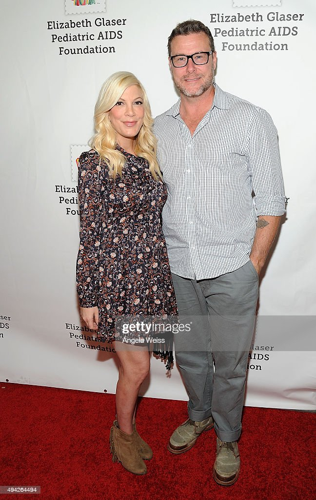 Actors Tori Spelling and Dean McDermott attend the Elizabeth Glaser Pediatric AIDS Foundation's 26th Annual A Time For Heroes Family Festival at...
