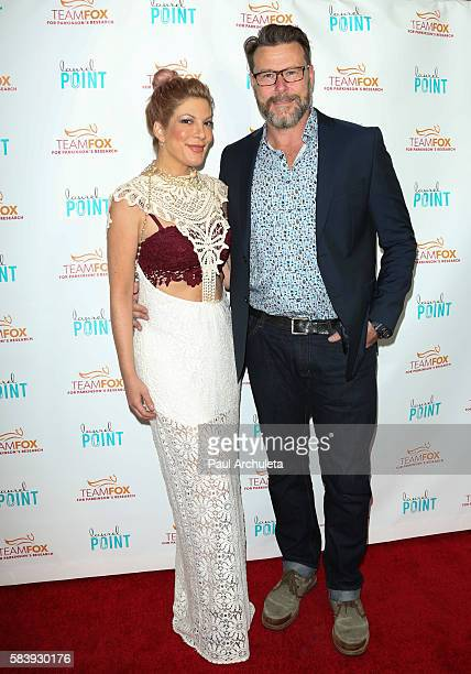 Actors Tori Spelling and Dean McDermott attend the 'Raising The Bar To End Parkinson's' at Laurel Point on July 27 2016 in Studio City California