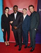 Actors Torrey DeVitto Eamonn Walker David Eigenberg and Nick Gehlfuss arrive at the 2016 Summer TCA Tour NBCUniversal Press Tour at the Four Seasons...