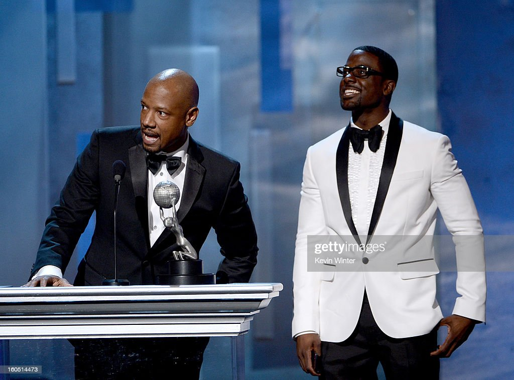 Actors Tory Kittles (L) and <a gi-track='captionPersonalityLinkClicked' href=/galleries/search?phrase=Lance+Gross&family=editorial&specificpeople=4083742 ng-click='$event.stopPropagation()'>Lance Gross</a> onstage during the 44th NAACP Image Awards at The Shrine Auditorium on February 1, 2013 in Los Angeles, California.