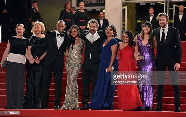 Actors Tory Kittles Jessica Mauboy director Wayne Blair and actors Deborah Mailman Shari Sebbens Miranda Tapsell and Chris O'Dowd attend the 'The...