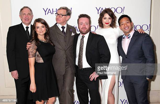 Actors Trace Beaulieu and Milana Vayntrub executive producer Paul Feig actors Neil Casey Conor Leslie and Eugene Cordero arrive at Paul Feig's new...