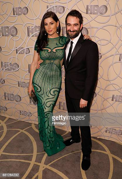 Actors Trace Lysette and Jay Duplass attend HBO's Official Golden Globe Awards After Party at Circa 55 Restaurant on January 8 2017 in Beverly Hills...