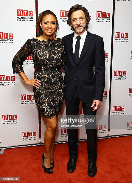 Actors Tracie Thoms and John Hawkes attend 'Lost Lake' opening night after party at Brasserie 8 1/2 on November 11 2014 in New York City