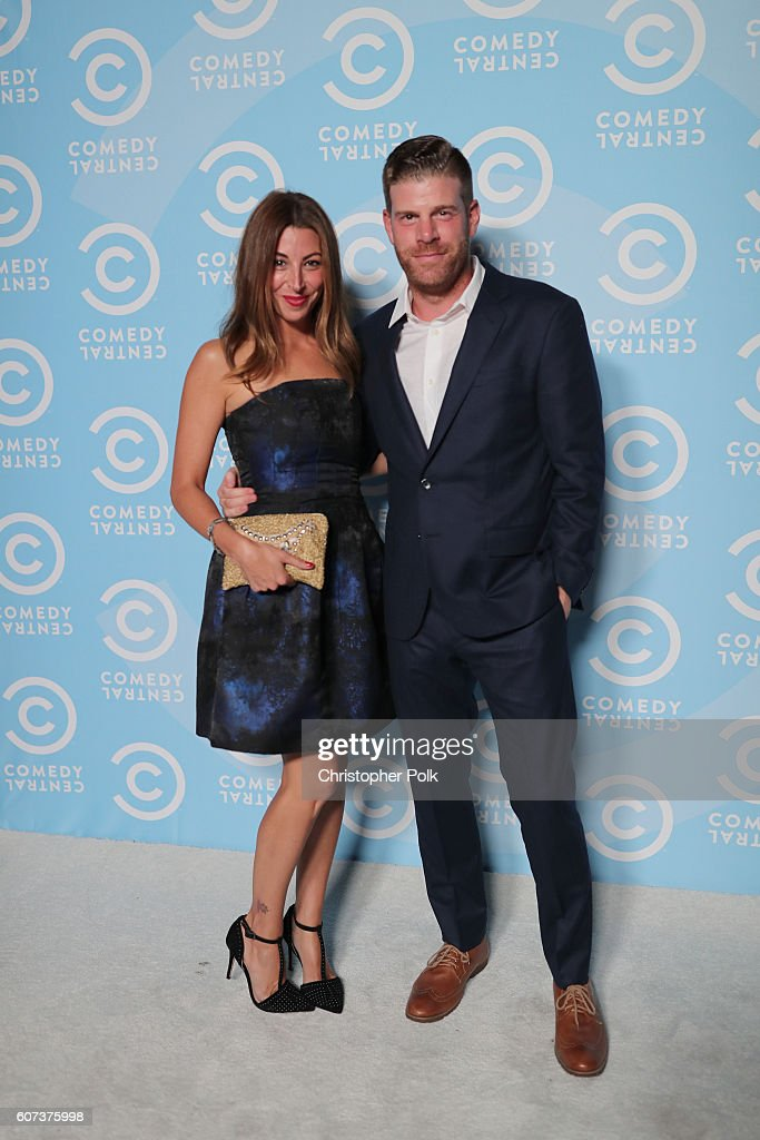 Actors Tracy Rannazzisi (L) and Stephen Rannazzisi attend the Comedy Central Pre-Emmys Party at Boulevard3 on September 17, 2016 in Hollywood, California.