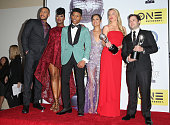 Actors Trai ByersTa'Rhonda Jones Bryshere Y Gray aka Yazz Grace Gealey Kaitlin Doubleday and Danny Strong pose with the Outstanding Drama Series...