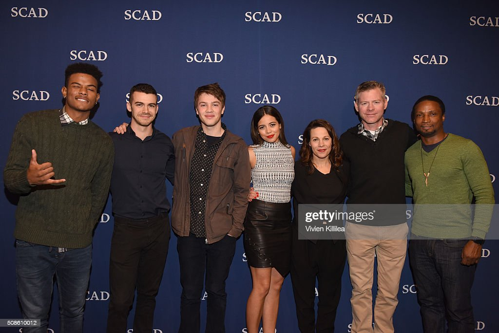 Actors Trevor Jackson, Joey Pollari, Connor Jessup, Angelique Rivera, <a gi-track='captionPersonalityLinkClicked' href=/galleries/search?phrase=Lili+Taylor&family=editorial&specificpeople=693682 ng-click='$event.stopPropagation()'>Lili Taylor</a>, Executive producer Michael McDonald and actor <a gi-track='captionPersonalityLinkClicked' href=/galleries/search?phrase=Elvis+Nolasco&family=editorial&specificpeople=7802617 ng-click='$event.stopPropagation()'>Elvis Nolasco</a> spose for a photo together during 'American Crime' event during aTVfest 2016 presented by SCAD on February 5, 2016 in Atlanta, Georgia.