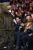 Actors Trey Smith and Will Smith sit in the audience during the 2016 MTV Movie Awards at Warner Bros Studios on April 9 2016 in Burbank California...