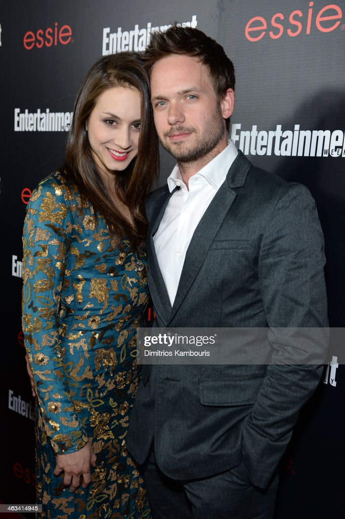 Actors <a gi-track='captionPersonalityLinkClicked' href=/galleries/search?phrase=Troian+Bellisario&family=editorial&specificpeople=6886214 ng-click='$event.stopPropagation()'>Troian Bellisario</a> (L) and <a gi-track='captionPersonalityLinkClicked' href=/galleries/search?phrase=Patrick+J.+Adams&family=editorial&specificpeople=4195512 ng-click='$event.stopPropagation()'>Patrick J. Adams</a> attends the Entertainment Weekly celebration honoring this year's SAG Awards nominees sponsored by TNT & TBS and essie at Chateau Marmont on January 17, 2014 in Los Angeles, California.