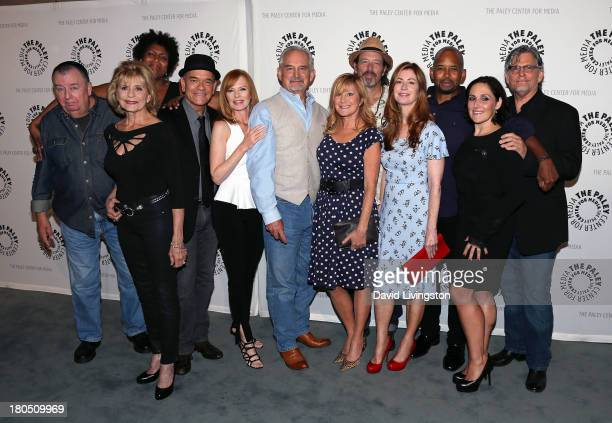 Actors Troy Evans Concetta Tomei Nancy Giles Robert Picardo and Marg Helgenberger creator/executive producer John Sacret Young and actors Chloe Webb...