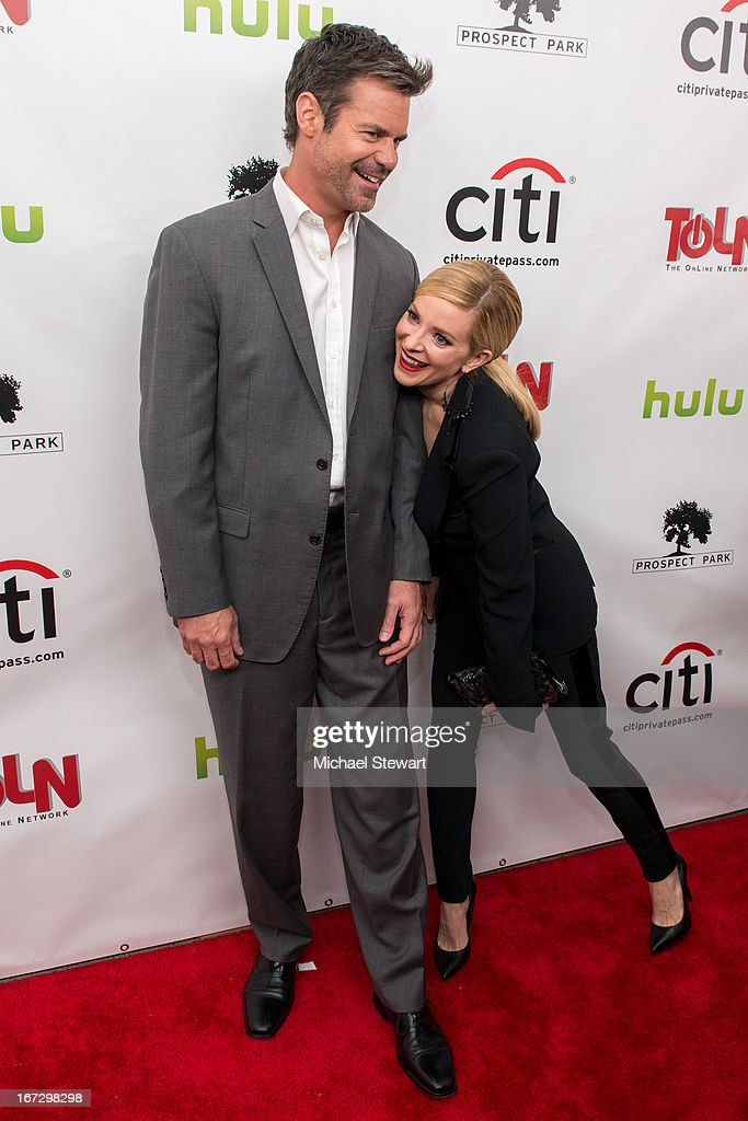Actors Tuc Watkins (L) and Cady McClain attend the 'All My Children' & 'One Life To Live' premiere at Jack H. Skirball Center for the Performing Arts on April 23, 2013 in New York City.
