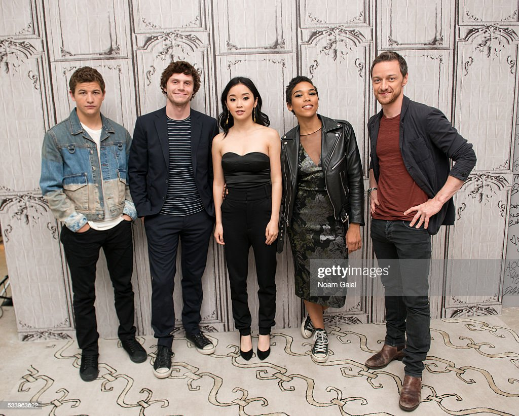 Actors <a gi-track='captionPersonalityLinkClicked' href=/galleries/search?phrase=Tye+Sheridan&family=editorial&specificpeople=7807719 ng-click='$event.stopPropagation()'>Tye Sheridan</a>, <a gi-track='captionPersonalityLinkClicked' href=/galleries/search?phrase=Evan+Peters&family=editorial&specificpeople=2301160 ng-click='$event.stopPropagation()'>Evan Peters</a>, <a gi-track='captionPersonalityLinkClicked' href=/galleries/search?phrase=Lana+Condor&family=editorial&specificpeople=14229196 ng-click='$event.stopPropagation()'>Lana Condor</a> and <a gi-track='captionPersonalityLinkClicked' href=/galleries/search?phrase=Alexandra+Shipp&family=editorial&specificpeople=10012876 ng-click='$event.stopPropagation()'>Alexandra Shipp</a> <a gi-track='captionPersonalityLinkClicked' href=/galleries/search?phrase=James+McAvoy&family=editorial&specificpeople=647005 ng-click='$event.stopPropagation()'>James McAvoy</a> visit AOL Build to discuss 'X-Men: Apocalypse' at AOL Studios in New York on May 24, 2016 in New York City.
