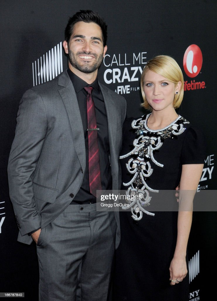 Actors Tyler Hoechlin and Brittany Snow arrive at the Lifetime movie premiere of 'Call Me Crazy: A Five Film' at Pacific Design Center on April 16, 2013 in West Hollywood, California.