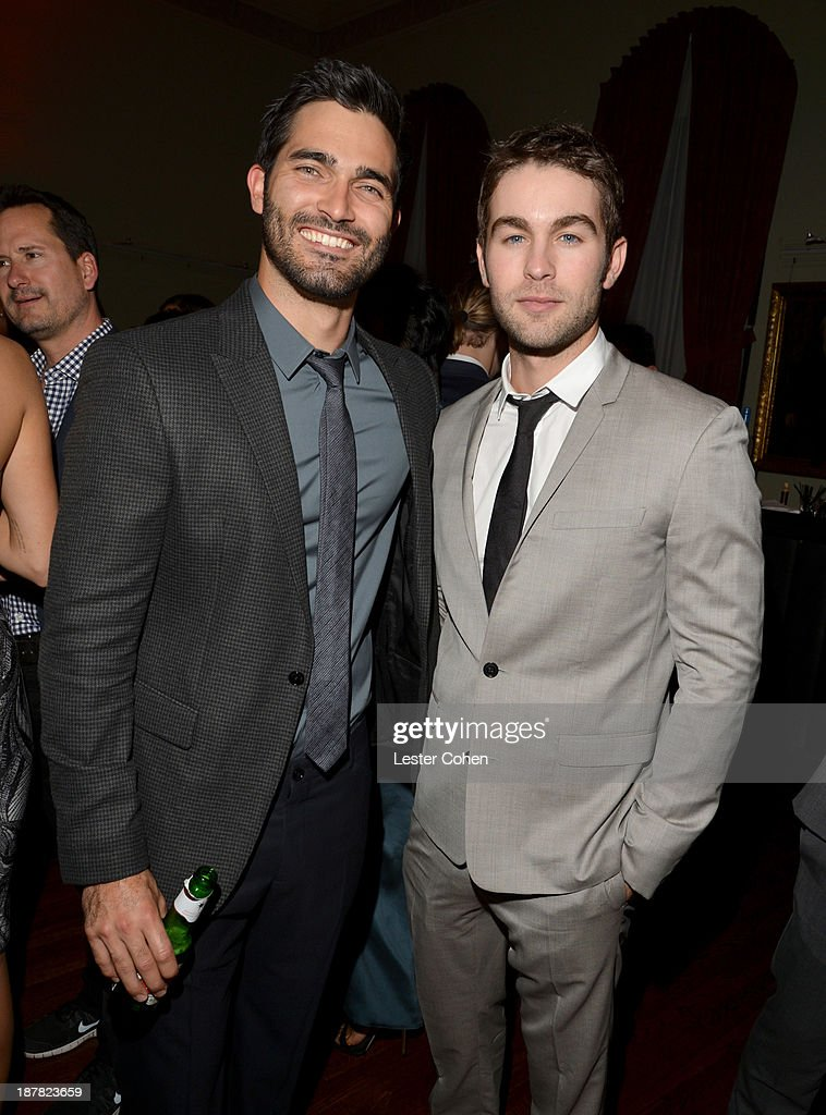 Actors <a gi-track='captionPersonalityLinkClicked' href=/galleries/search?phrase=Tyler+Hoechlin&family=editorial&specificpeople=228774 ng-click='$event.stopPropagation()'>Tyler Hoechlin</a> and <a gi-track='captionPersonalityLinkClicked' href=/galleries/search?phrase=Chace+Crawford&family=editorial&specificpeople=4238517 ng-click='$event.stopPropagation()'>Chace Crawford</a> attend the GQ Men Of The Year Party at The Ebell Club of Los Angeles on November 12, 2013 in Los Angeles, California.