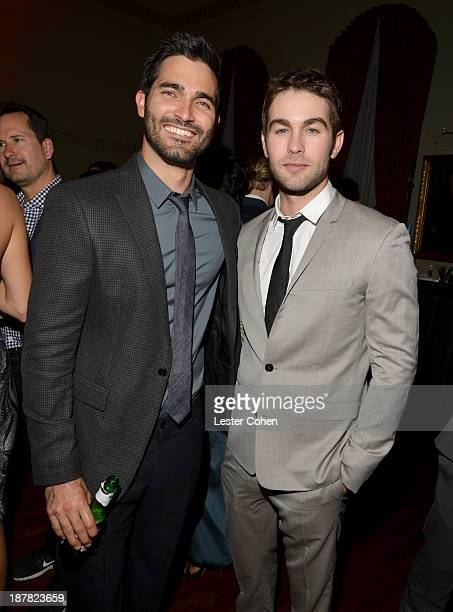 Actors Tyler Hoechlin and Chace Crawford attend the GQ Men Of The Year Party at The Ebell Club of Los Angeles on November 12 2013 in Los Angeles...