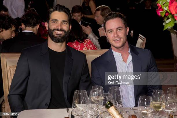 Actors Tyler Hoechlin and Ryan Kelley attend the amfAR Paris Dinner at Le Petit Palais on July 2 2017 in Paris France