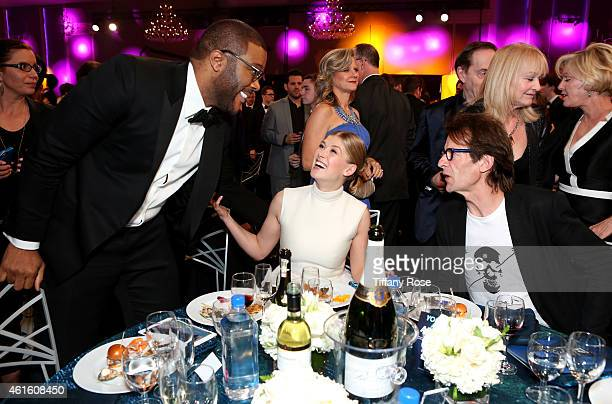 Actors Tyler Perry Rosamund Pike and Robie Uniacke during the 20th annual Critics' Choice Movie Awards at the Hollywood Palladium on January 15 2015...