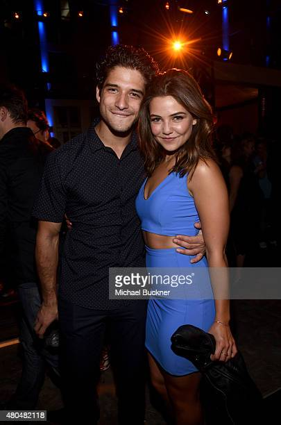 Actors Tyler Posey and Danielle Campbell attend Entertainment Weekly's ComicCon 2015 Party sponsored by HBO Honda Bud Light Lime and Bud Light Ritas...