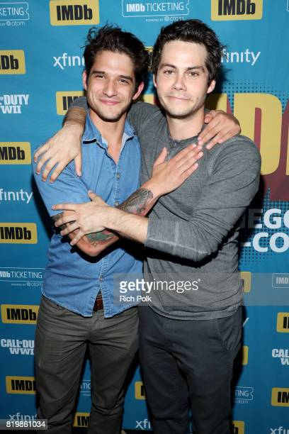 Actors Tyler Posey and Dylan O'Brien at the #IMDboat At San Diego ComicCon 2017 on the IMDb Yacht on July 20 2017 in San Diego California