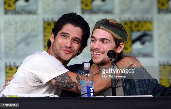 Actors Tyler Posey and Dylan Sprayberry attend the 'Teen Wolf' panel during ComicCon International 2016 at San Diego Convention Center on July 21...