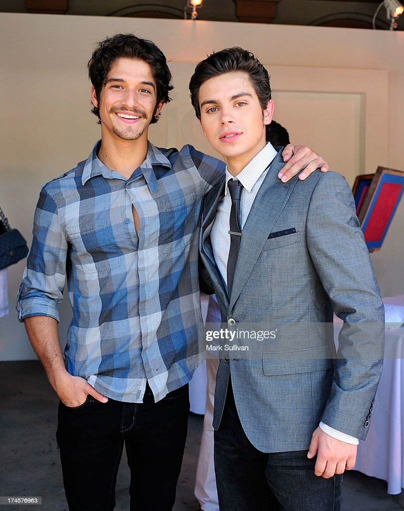 Actors Tyler Posey and Jake T Austin attend Variety's Power of Youth presented by Hasbro Inc and generationOn at Universal Studios Backlot on July 27...