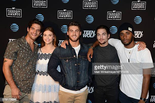 Actors Tyler Posey Holland Roden Cody Christian Dylan Sprayberry and Khylin Rhambo attend the MTV Fandom Awards San Diego ATT PostParty featuring...