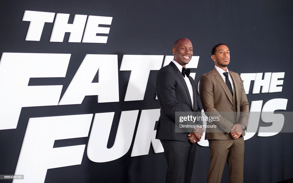 Actors Tyrese Gibson and Ludacris attend 'The Fate Of The Furious' New York Premiere at Radio City Music Hall on April 8, 2017 in New York City.