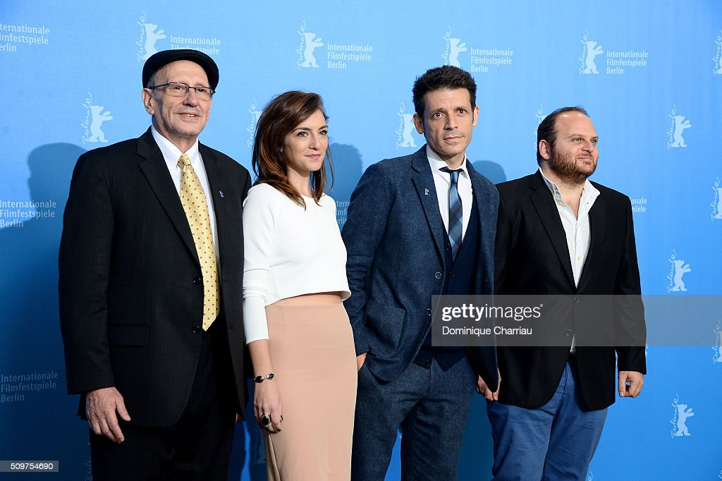 Actors Usher Barilka, Julieta Zylberberg, director Daniel Burman and actor Alan Sabbagh attend the 'The Tenth Man' photo call during the 66th Berlinale International Film Festival Berlin at Grand Hyatt Hotel on February 12, 2016 in Berlin, Germany.