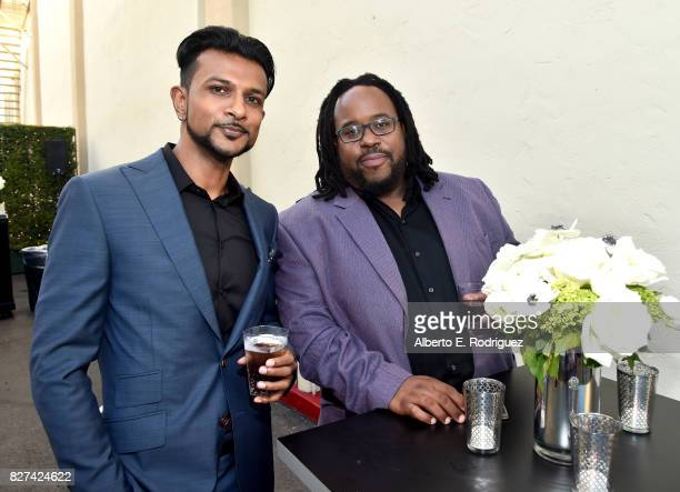 Actors Utkarsh Ambudkar and Jacob MingTrent of 'White Famous' during the Showtime portion of the 2017 Summer Television Critics Association Press...