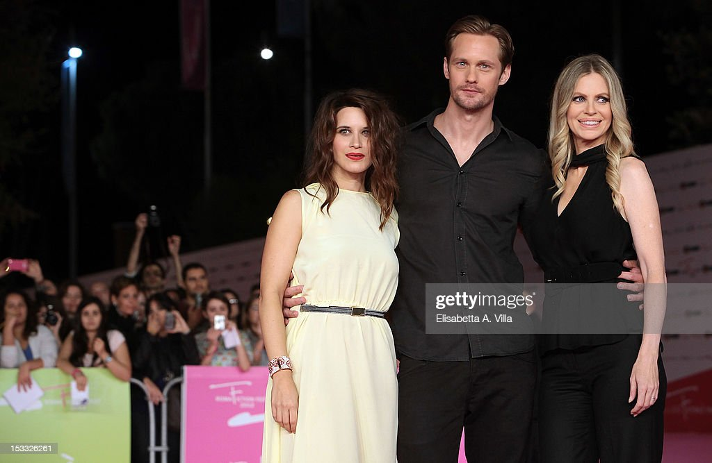 Actors <a gi-track='captionPersonalityLinkClicked' href=/galleries/search?phrase=Valentina+Cervi&family=editorial&specificpeople=240694 ng-click='$event.stopPropagation()'>Valentina Cervi</a>, Alexander Skarsgard and <a gi-track='captionPersonalityLinkClicked' href=/galleries/search?phrase=Kristin+Bauer&family=editorial&specificpeople=3164038 ng-click='$event.stopPropagation()'>Kristin Bauer</a> attend 'True Blood 5' premiere during the 2012 RomaFictionFest at Auditorium Parco della Musica on October 3, 2012 in Rome, Italy.